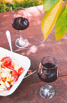 Beaujolais wine and food picnic