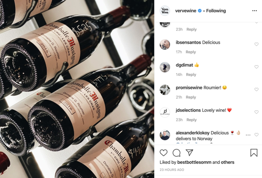 Verve Wine Instagram