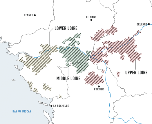 Map of Loire