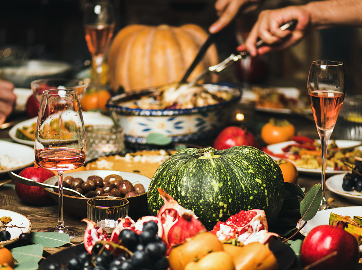 red wine with pumpkins